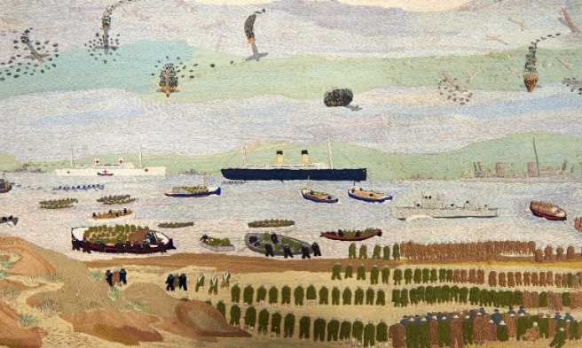 The Evacuation of Dunkirk by John Craske via The Guardian. Photo: NUA Gallery, Norwich