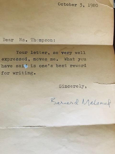 Malamud Letter